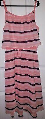 Nautica Children's Apparel Big Girls size 10 Striped light pink /navy dress