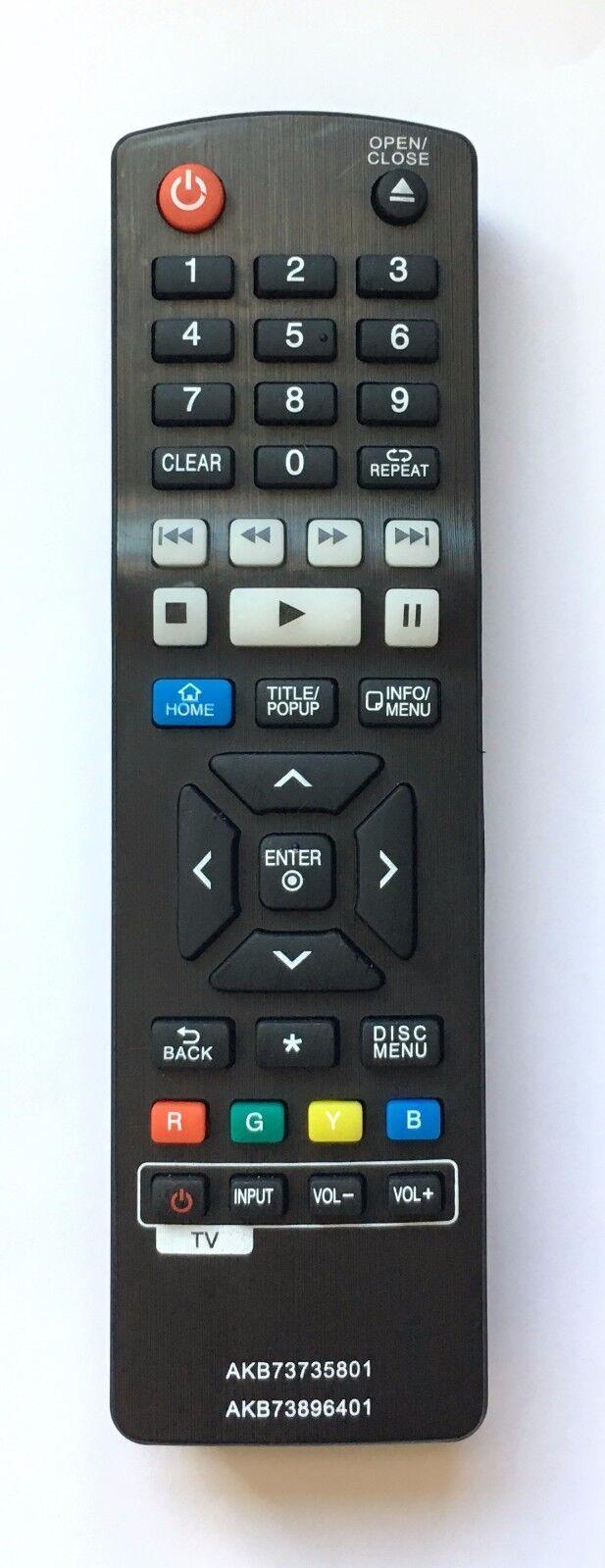 NEW USBRMT Remote AKB73735801 AKB73896401 for LG Blu-Ray DVD