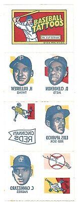 1971 Topps Baseball Tattoos Complete Sheet # 6 Killebrew - Aparicio ++ (Baseball Tattoos)