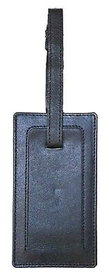 Black Geniune Real Cowhide Leather Luggage Tag Cruise Ship Name Bag Suitcase