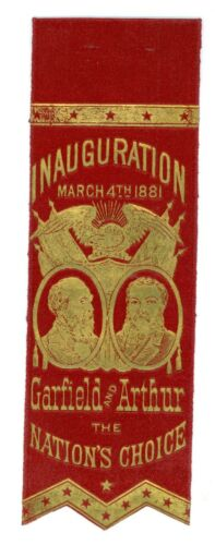 Vintage 1881 President James A. Garfield Inauguration Ribbon The Nation