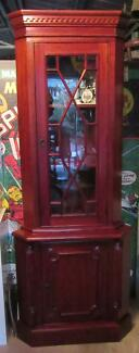 Antique Solid Mahogany Corner Display/China Cabinet.