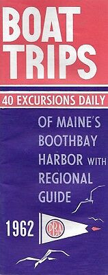 Boothbay Harbor Maine Boat Trips 40 Excursions Daily & Regional Guide 1962