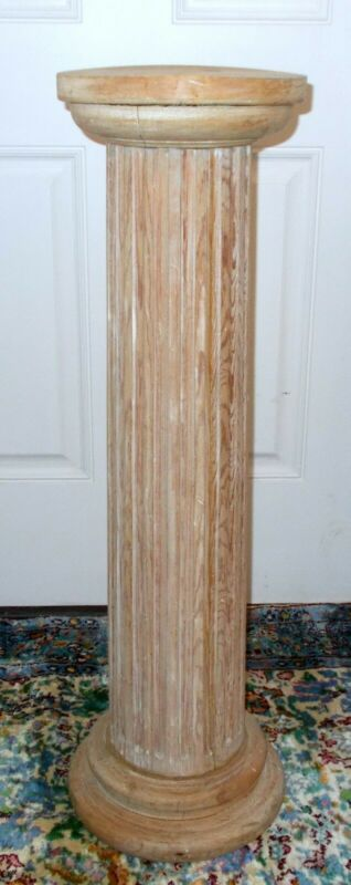 Vtg PEDESTAL Column Plant STAND Table Fluted  French LOUIS XVl Boho Villa CHIC