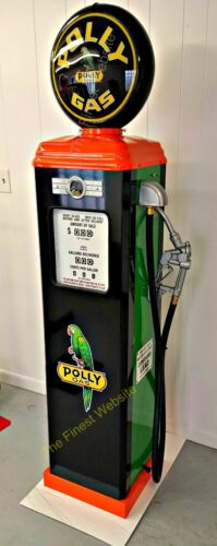 NEW REPRODUCTION POLLY GAS PUMP OIL ANTIQUE REPLICA - FREE SHIPPING*