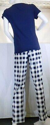 Calvin Klein Underwear Ladies' Soft PJ set, Blue/Check, Small