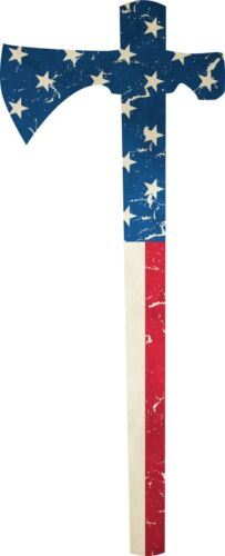 "The American freedom tomahawk reflective patriot decal 2.5"" wide x 6"" tall"