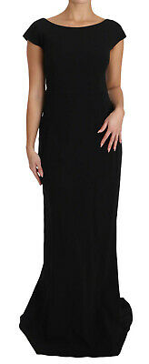 DOLCE & GABBANA Dress Black Stretch Fit Flare Gown Maxi IT36 /US2/ XS RRP $2700