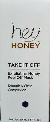 HEY HONEY Take It Off Exfoliating Honey Peel Off Mask 1.7 oz Full Sz $38 Retail