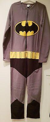 Batman Einteiler Jumpsuit Overall Onesie grau S M 36 38 40 neuw