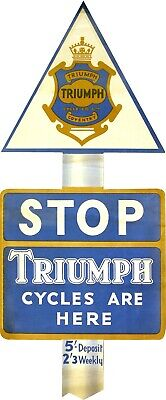 Triumph Bicycle Advert- STOP retro British cycling poster the interior design