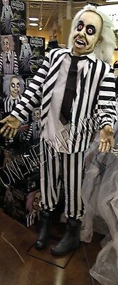 Frontgate Grandinroad Halloween Beetlejuice life size Animated Talking Prop 6' *