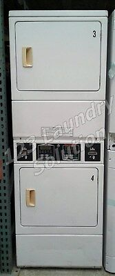 Speed Queen Commercial Stack Dryer Apt Size Card Opl Ssgf09wj White Finish Used