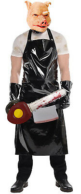 Evil Horror Butcher Apron Pig Mask Texas Chainsaw Halloween Fancy Dress Costume