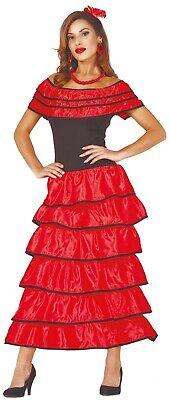 Damen Rote Spanischer Flamenco Tänzer Gypsy Karneval Kostüm - Tänzer Outfits Kostüme