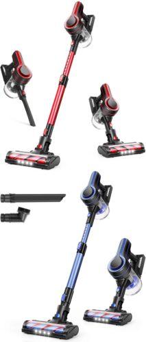 APOSEN H250 Cordless Vacuum CleanerUpgraded 24Kpa Stick Vacuum Red Home Pet Hair