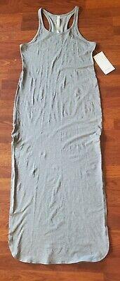 NEW LULULEMON Refresh Grey Summer Maxi Dress Womens Size 10 NWT msrp 98