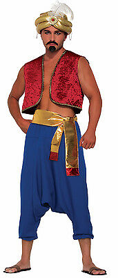 Men's Blue Genie Pants Aladdin Desert Prince Costume Accessory Size - Aladdin Costumes For Men