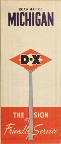 1951 D-X Road Map: Michigan NOS