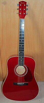 A FENDER SQUIER DG 6 ACOUSTIC GUITAR