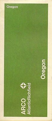 1970 ARCO Atlantic Richfield Road Map OREGON Portland Salem Eugene Crater Lake