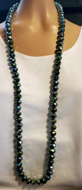 """Heidi Daus Ladies Choice Beaded 42"""" Necklace   Aqua"""