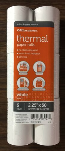 """Office Depot THERMAL PAPER ROLLS 2.25"""" x 50"""