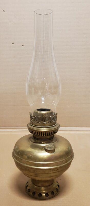 Vintage L&B Brevete The Belgian Lamp Brass Oil Lamp Antique