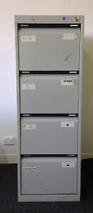 Grey 4-drawer Metal Filing Cabinet Brookvale Manly Area Preview