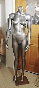 Full Standing Headless Silver Female Display Mannequin Slick! Randwick Eastern Suburbs Preview