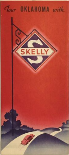 1939 Skelly Road Map: Oklahoma NOS