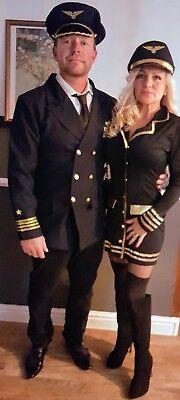 Halloween /Ladies  Fancy Dress Pilot  Set  Excellent Quality Size Small 8 to - Pilot Fancy Dress Kostüm