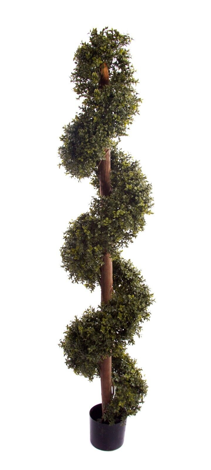 Best Artificial Natural 6ft 180cm Boxwood Topiary Spiral Outdoor Garden Tree Ebay
