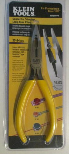 Klein Tools VDV026-049 Connector Crimping Long-Nose Pliers BRAND NEW SEALED