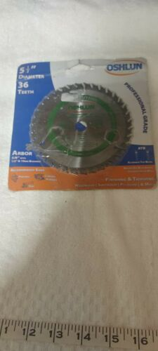 Oshlun Sbw-055036 5-1/2-Inch 36 Tooth Atb Finishing And Trimming Saw Blade