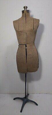 Vintage Antique Adjustable Dress Form Mannequin Cast Iron Basestand Acme