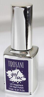 Trosani Gellac UV Lack Gel Lack Nagellack Midnight Dunkelblau Blau Lila CS12
