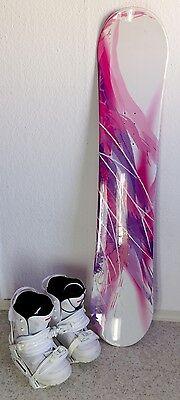 Snowboard (137cm) + 2 Bindung + Snowboardschuhe Größe 41 - Top-Zustand !!! Set