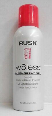 RUSK W8LESS PLUS SPRAY GEL Firm Hold Shaping & Control Gel ~ 150 g / 5.3 oz - Hold Shaping Spray