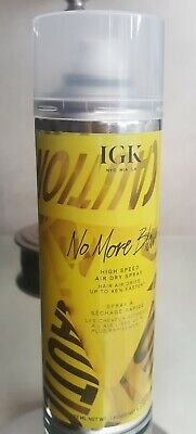 IGK No More Blow Hair Dry Spray 293ml Vegan & Cruelty Free. Non use of hairdryer