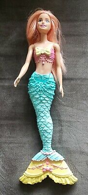 RARE EXC COND.only1eBay-BARBIE DOLL DREAMTOPIA MERMAID PINK HAIR+BLUE TIARA/NICE