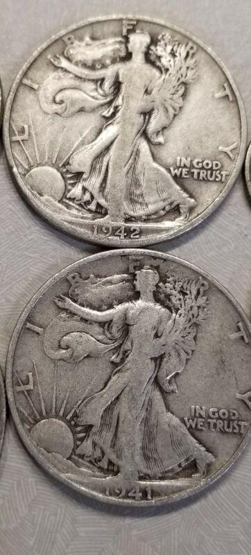 1916-1947 Walking Liberty Half Dollar 90% silver circulated 1 coin random draw