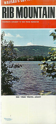 Vintage Brochure for Rib Mountain Wausau Wisconsin Ski Resort