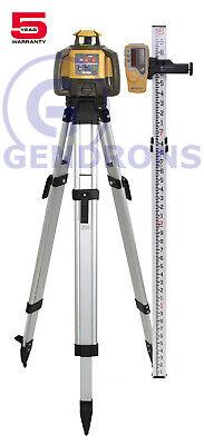 Topcon Rl-h5a Self-leveling Rotary Slope Laser Level Tripod 10th Grade Rod