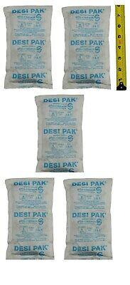 5 Packs Of 224 Gram 8 Units Of Silica Gel Packets Desiccant Dry Meets Fda Food