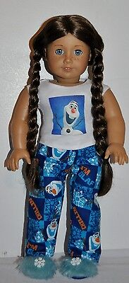 """AMERICAN MADE DOLL CLOTHES FOR 18 INCH GIRL DOLLS DRESS LOT """"OLAF  PJS"""" ONLY on Rummage"""