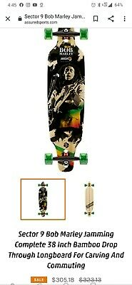 Sector 9 Bob Marley Jamming Complete 38 Inch Bamboo Drop Through Longboard