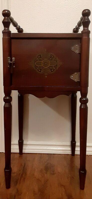 VTG Cushman Craftsman Smoking Stand Table Humidor Arts Crafts Cabinet~Vermont
