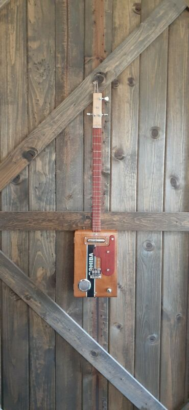 3 string electric cigar box guitar