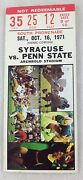 Penn State Football Ticket Stub